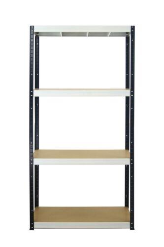 Metallregal Werkstatt-Schwerlastregal SCHWARZ WEISS 180cm //30-120 cm breit HBW