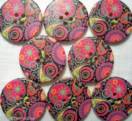 de 2 à 6 boutons BOUTON BOIS ** 30 mm // 3 cm ** Orient 30//021 Qté au choix