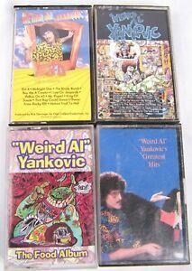 Weird-Al-Yankovic-VTG-Cassette-Tape-Lot-Debut-Food-Album-In-3D-Greatest-Hits