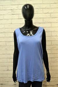 RALPH-LAUREN-Donna-Taglia-Size-XL-Canottiera-Blusa-Maglia-Polo-Shirt-Women-Blu