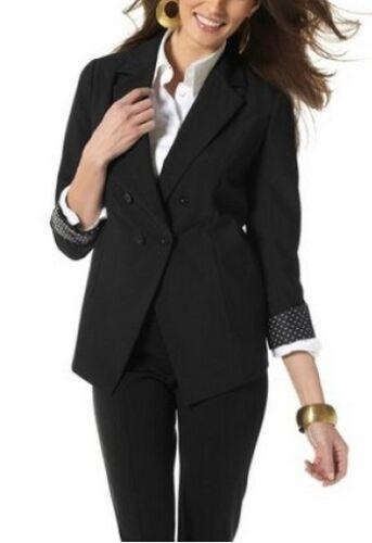 36,38,40,42 Nuovo Donna Giacca Nero per cardatura Business Blazer Vivien Caron Tg