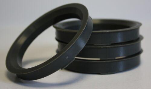 4 x 66.6-57.1 LEGA RUOTA gli anelli di centraggio mozzo codolo si adattano Audi A6 00 /> 10