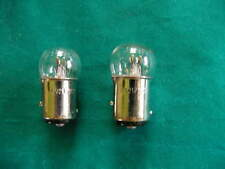 2 small globe LIGHT BULBS 6 Volt 21 Watt stop n tail rearlight + brake bulbs