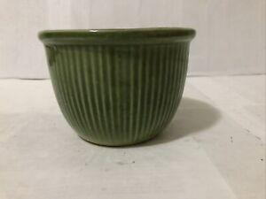 Vintage Antique Decorative Green Pottery Planter Vase Bowl 4C