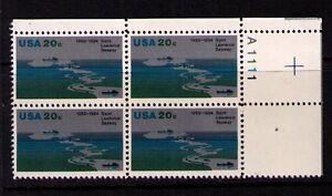 Ee. Uu. Ee.uu. Sc# 2091 MNH FVF Pl # Bloque St. Lawrence Seaway Río Canadá Barco