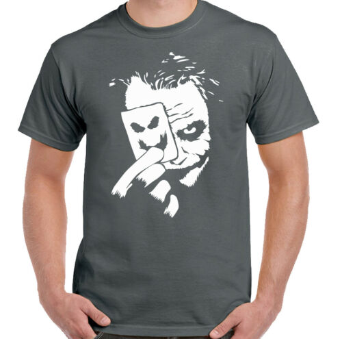JOKER T-SHIRT Mens Batman Suicide Squad Joaquin Phoenix Heath Ledger Unisex Tee
