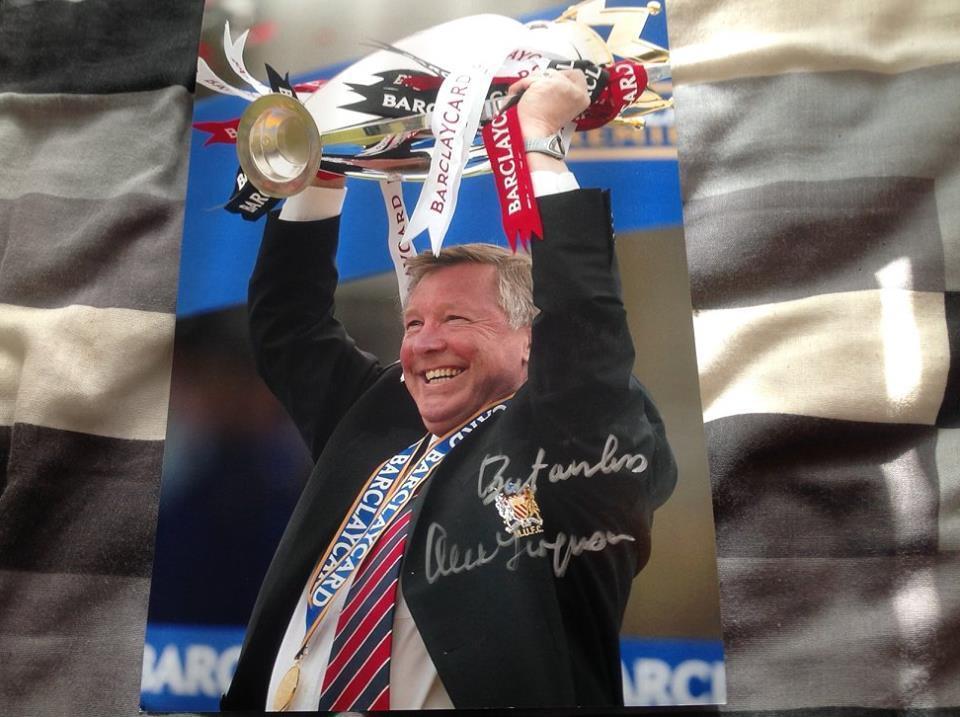 Sir Alex Ferguson Man Utd Main Signé 12 x 8 photo Legend Manchester United COA