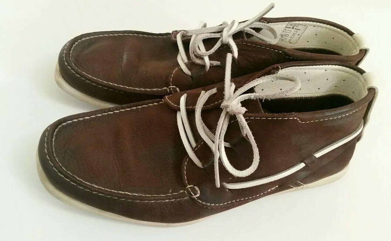 NDC para hombre Bota Alithia Hecha a Mano Completa de Cuero Mocasines Tobillo Zapatos Náuticos