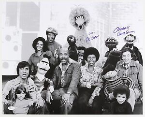 1970s-Carroll-Spinney-and-Sesame-Street-Cast-Signed-LE-16x20-B-amp-W-Photo-JSA