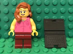 Lego City Red Hair Female Doctor Nurse Mini Figure,Syringe,baby Bottle Utensil