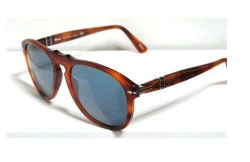 Persol 649 52 Light Havana Blue Sunglasses Sunglasses Havana Blue