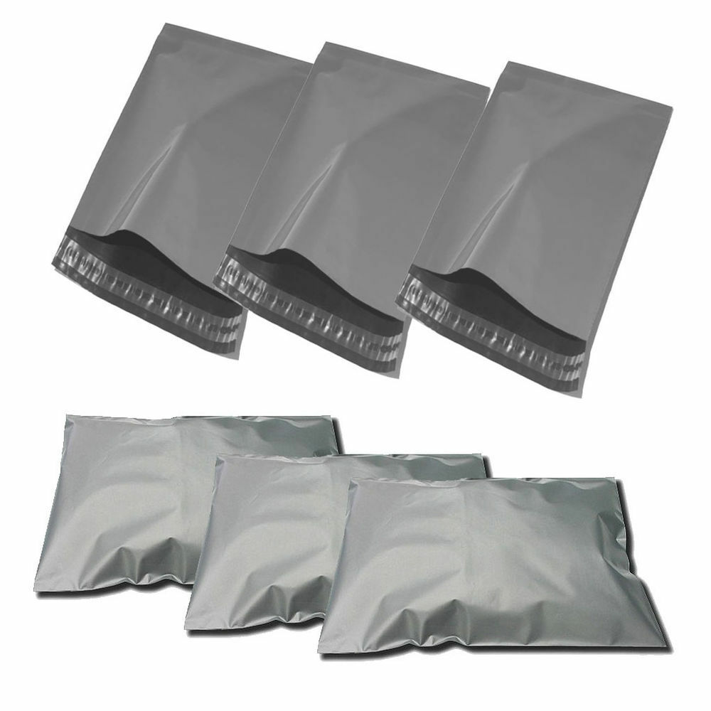 1000 x grau Mailing Postal Bags Strong Plastic Polythene 12 x 16  305x405mm No2