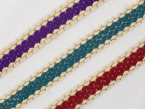01 Cm wide Braid Trim Upholstery Edging Border Sew Crafts Gimp Costume  T401