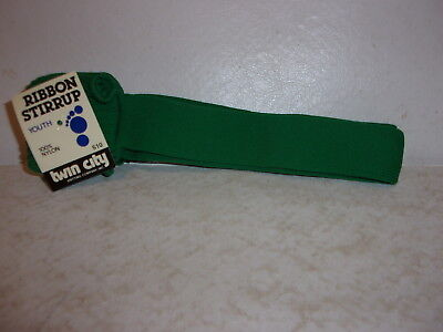U.S.A. 1 Pair Twin City Adult Athletic  Ribbon Stirrup Socks GOLD #513