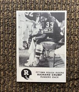 1981 Jogo CFL #1 Richard Crump Ottawa Rough Riders Oklahoma RARE Rookie Card
