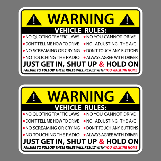 BE SAFE KEEP DISTANCE sticker decal vinyl jdm funny bumper car truck 4x4  window