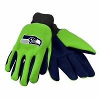 Seattle Seahawks Gloves Sports Logo Utility Work Garden Colored Palm