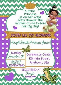 Princess tiana baby shower invitation princess tiana baby shower image is loading princess tiana baby shower invitation princess tiana baby filmwisefo