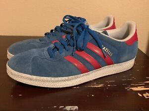 Adidas Gazelle-Azul y Rojo-Talla 10 para hombre-Usado | eBay