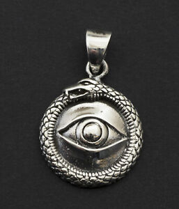 mauvais oeil doré GP strass pendentif en chaîne mal œil BLEU NEUF