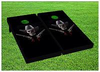 Cowboy Skull Guns Cornhole Boards Beanbag Toss Game W Bags Pistol Shooter S01384