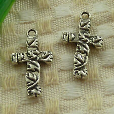 free ship 90 pieces tibetan silver cross charms 23x13mm #3688