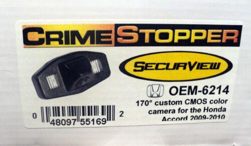 NEW Crimestopper OEM-6214 170° Color Back-Up OEM Camera for Honda Accord 09-10