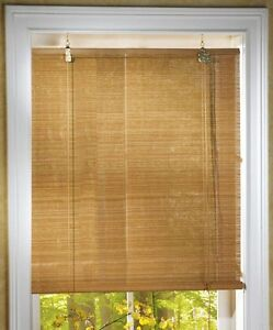bamboo window blinds. Roll-up-Natural-Bamboo-Window-Blinds-25-034- Bamboo Window Blinds