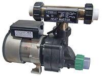 Whirlpool Bathtub Pump 3/4hp & Heat Master Tee Heater System Combo W/pump Union