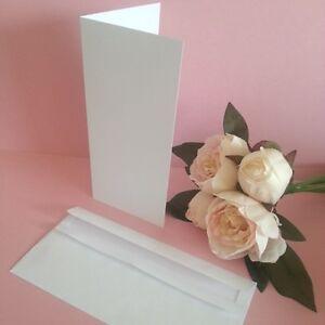 Dl folded diy blank card invitation making kit envelopes white 25 image is loading dl folded diy blank card invitation making kit stopboris Image collections