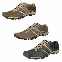 Mens REFRESH Various Sizes in Brown, Black or Sage Lace-Up Trainers by Skechers