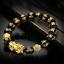 thumbnail 75 - Men-Fashion-Black-Lava-Stone-Gold-amp-Silver-Lion-Beaded-Cuff-Charm-Bangle-Bracelet