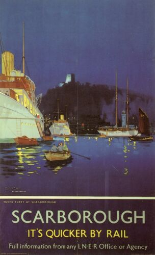 Visit ...SCARBOROUGH   Vintage LNER Railway Poster A1,A2,A3,A4 Sizes