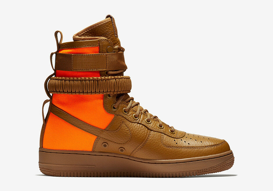 Nike Nike Nike MEN'S SF SPECIAL FIELD AF1 QS Desert Ochre Total orange SIZE 9.5 BRAND NEW 0d3253