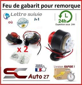 Feu de gabarit rouge,blanc pour remorque,semi-remorque 10-30 volt vendu par 2