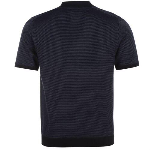 Pierre cardin en mailles à rayures polo shirt homme manches courtes top ~ toutes les tailles m-xxl