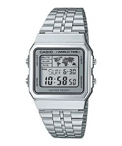 A500WA-7D-Casio-Men-039-s-Watches-Digital-Stainless-Steel-Band-Brand-New-Model-New