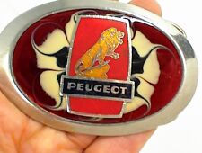 PEUGEOT CAR BELT BUCKLE AUTOMOBILE FRENCH FRANCE EUROPE MEN WOMEN