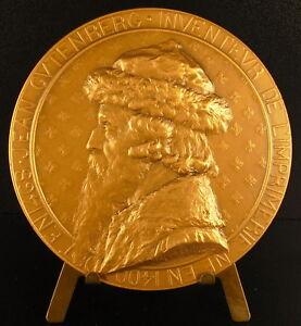 Medaglia-Jeans-Johannes-Gensfleisch-Zur-Zum-Laden-Gutenberg-Stampa-210g-Medal