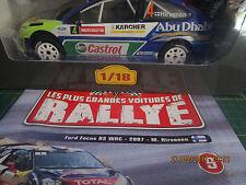 Rallye 1/18 Altaya N°09 Ford Focus RS WRC - 2007 - M Hirvonen neuf+livret