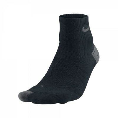 Nike Running Dri Fit Cushioned Socks UK Size 11-14.5 Arch Compression Black