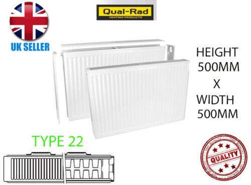 QUAL RAD DOUBLE RADIATOR 500 X 500 TYPE 22 DOUBLE PANEL CONVECTOR PLUMBING NEW