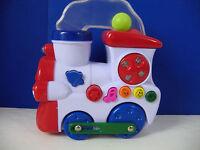 Musical Train Engine Toy Pop Up Balls Lights Sounds Navystar Batteries Included