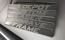 Polish Stainless Steel Frame Custom Wording Laser Engrave License Plate Audi Bmw