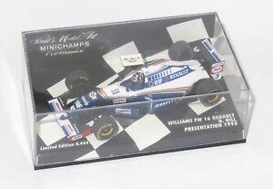1/43 Williams Renault Fw16 Voiture de présentation 1995 Damon Hill 4012138013483