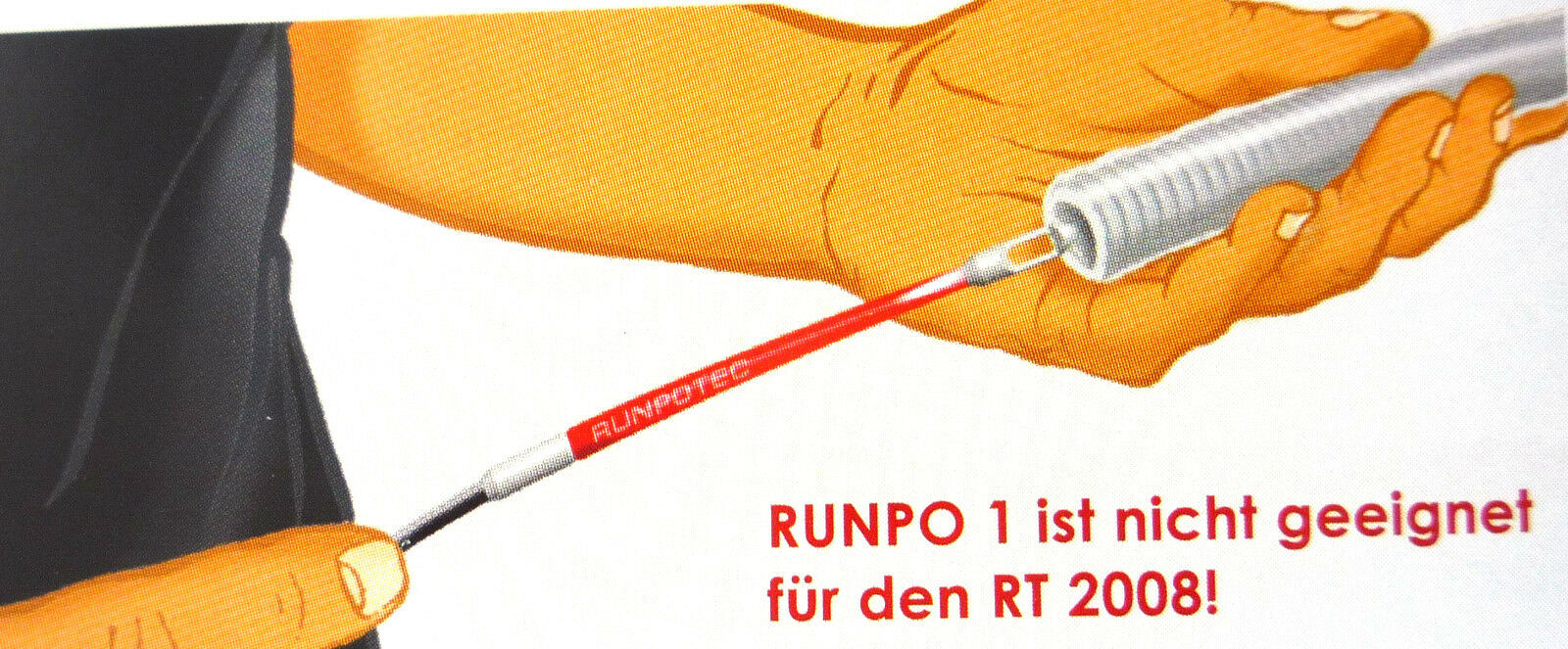 KST 4mm lunghezza 10m Supporto tiraggio cavo runpotec runpo 1 con runpogleiter rosso