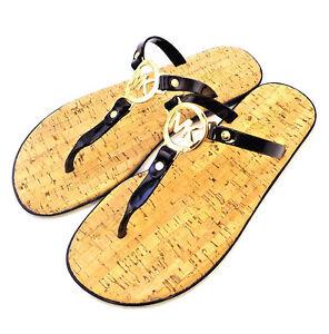 87a1290e246a MICHAEL KORS MK PVC Size 11 Jelly Cork Black Women s Sandal RETAIL ...