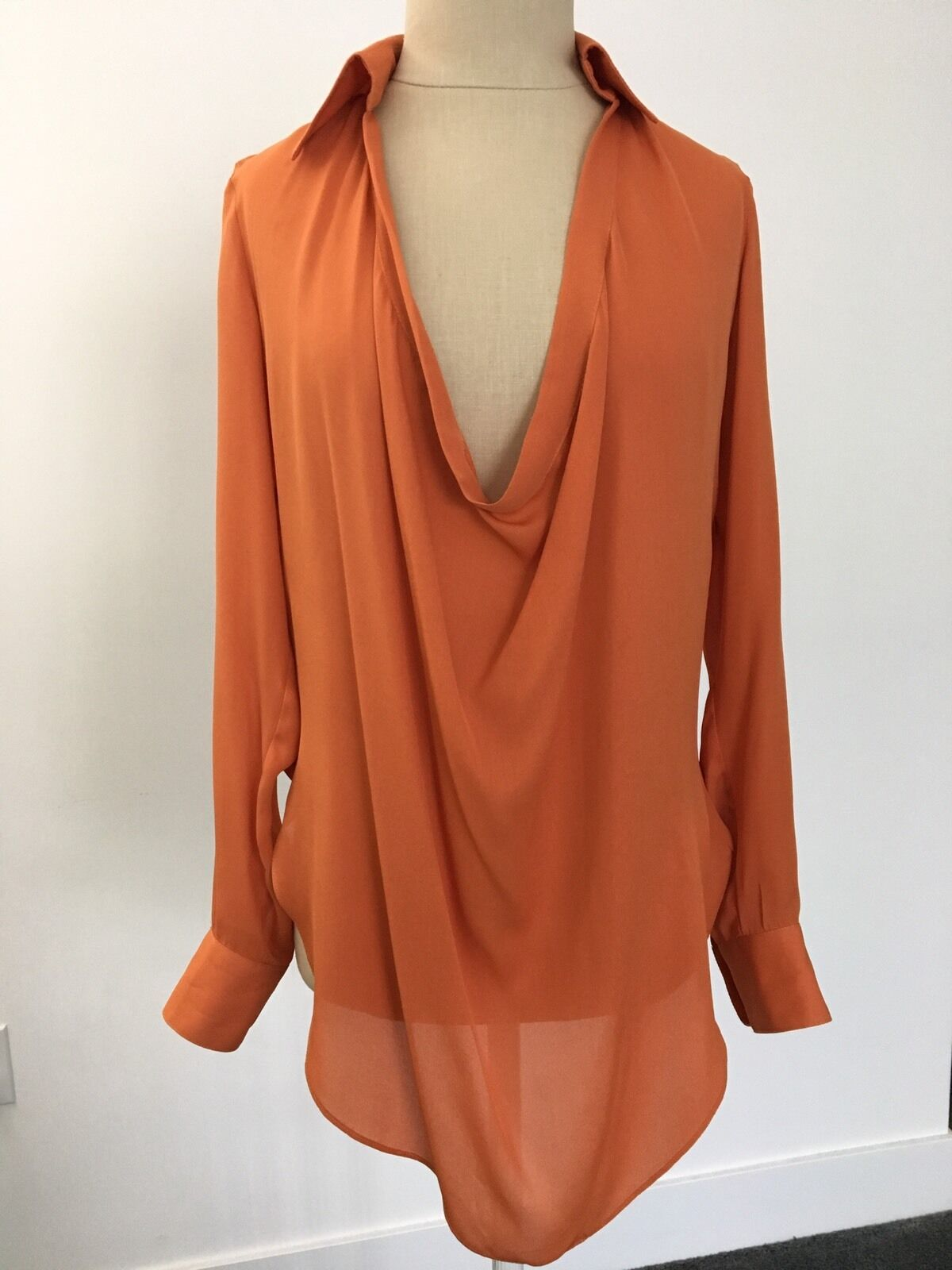 NEW Haute Hippie Silk Tunic Blouse XS