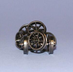 Dapol-WHEELSSPOKE-Spoked-12mm-Wagon-Wheels-x-20-Axle-Sets-039-00-039-Gauge-T48-Post