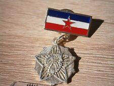SUBNOR YUGOSLAVIA WWII 1941 MINIATURE BADGE MEDAL PARTISAN veterans association
